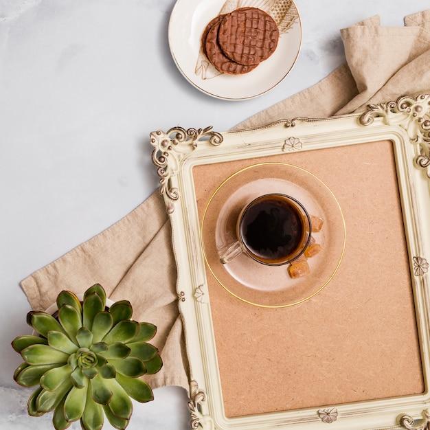 朝食の要素のトップビュー 無料写真