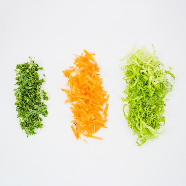 さまざまな種類の野菜の平面図 無料写真