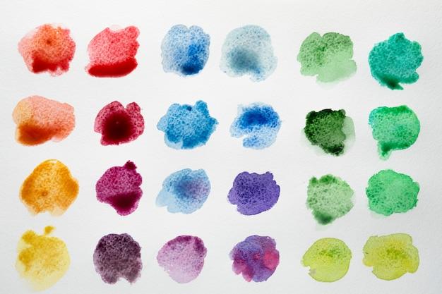 水彩画の汚れのカラーパレット 無料写真