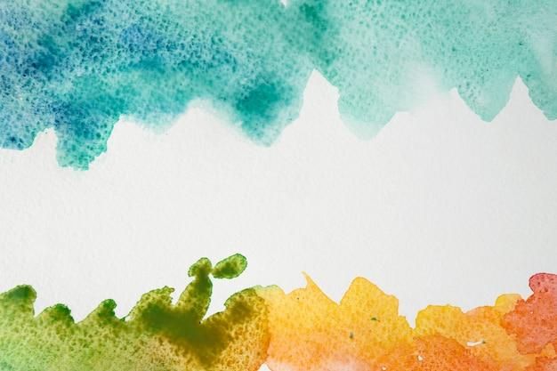 芸術的なカラフルな水彩ブラシストローク 無料写真
