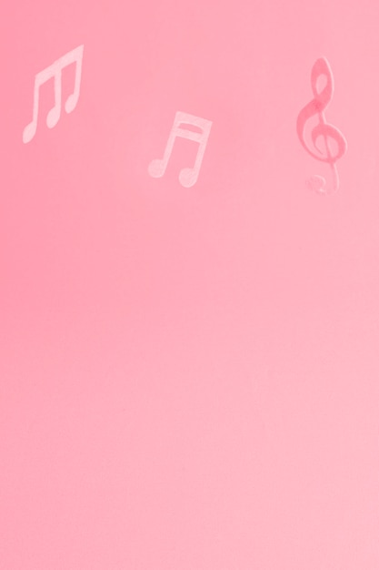 音符と赤の背景 無料写真