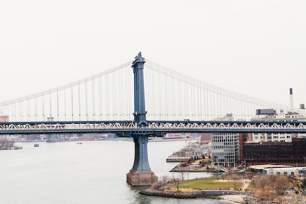 Бруклинский мост и нью-йорк Бесплатные Фотографии