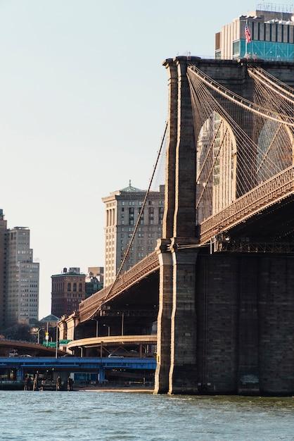 ニューヨークのブルックリン橋 無料写真