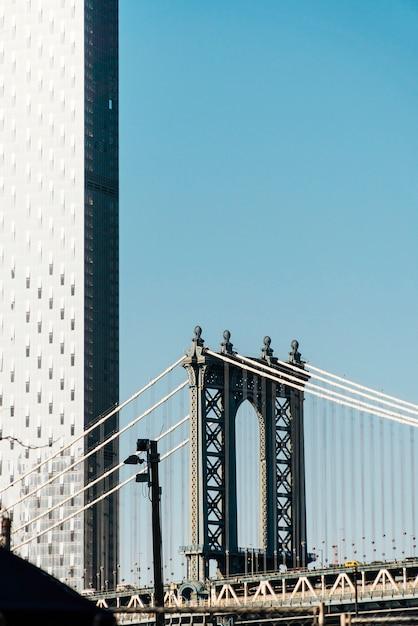 ニューヨーク市のマンハッタン橋 無料写真