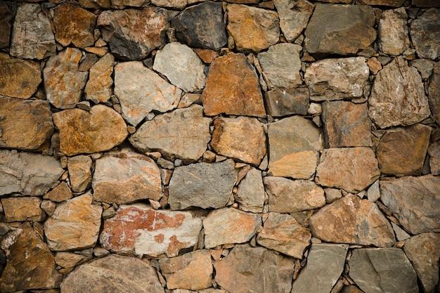 石の壁の質感をクローズアップ 無料写真