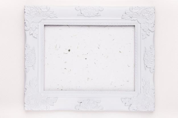 背景に空の白い木製フレーム 無料写真