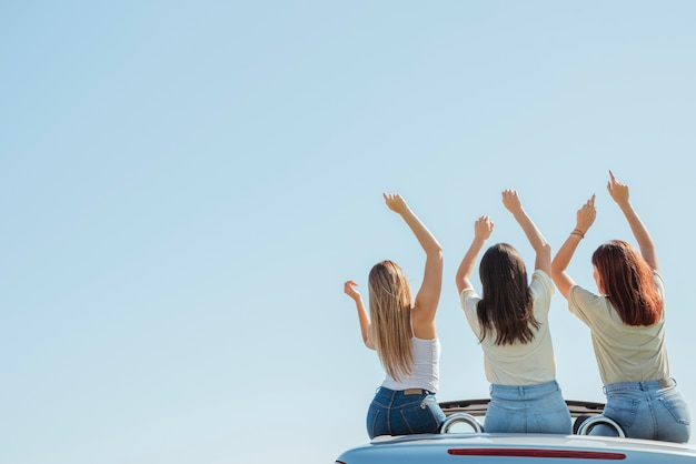 Группа друзей делает поездку Бесплатные Фотографии
