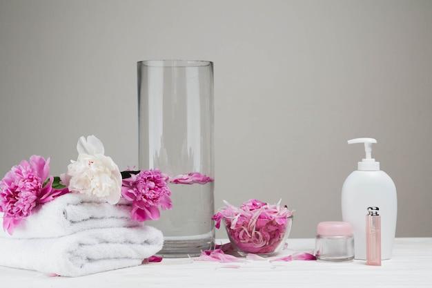 美容クリームとスパのための自然な要素 無料写真
