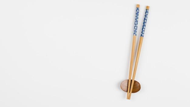 アジアの箸のトップビュー 無料写真