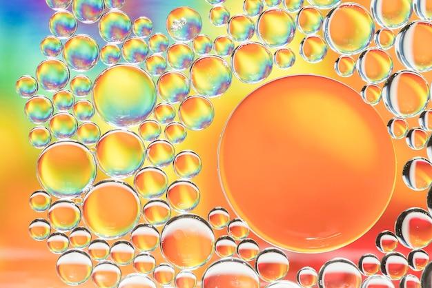 抽象的な色とりどりの異なる泡テクスチャ 無料写真