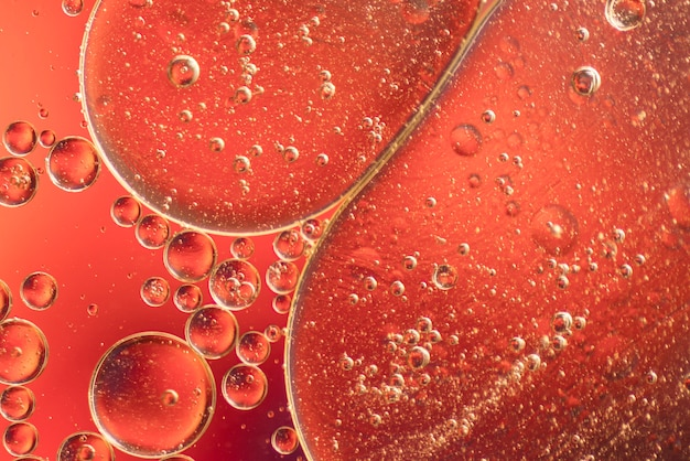 泡とオレンジ色の抽象的な背景 無料写真