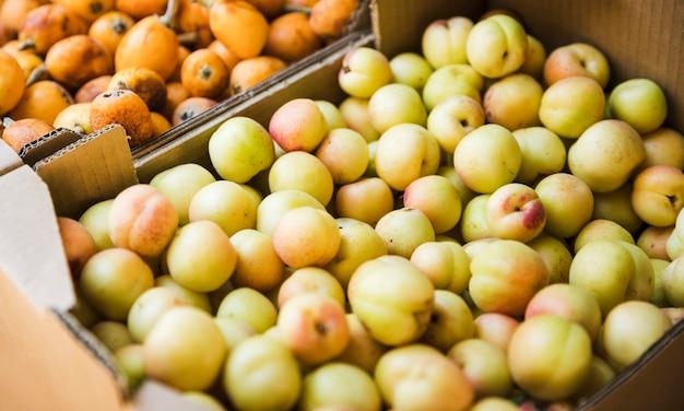 地元の農民市場における有機梅の実 無料写真