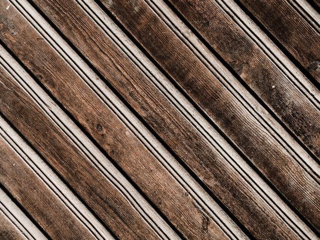 Полный кадр старой деревянной скамейке Бесплатные Фотографии