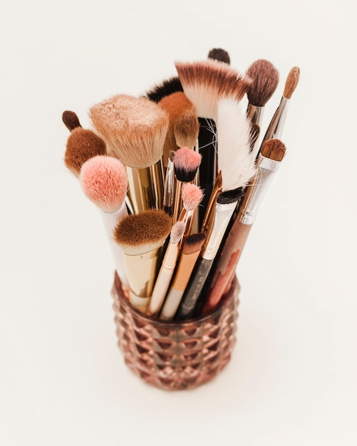 Группа макияж кисти в вазе Бесплатные Фотографии