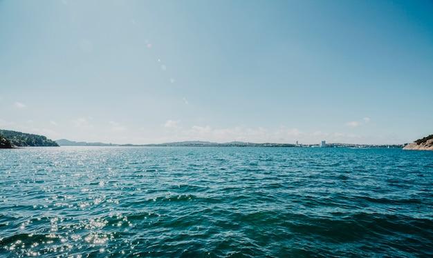 湖の地平線 無料写真