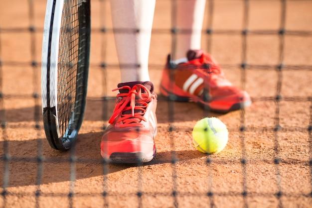 Крупный план ног теннисиста Бесплатные Фотографии