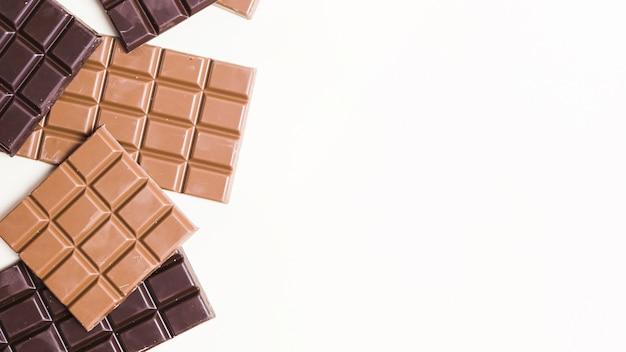 ダークチョコレートのトップビューフードフレーム 無料写真