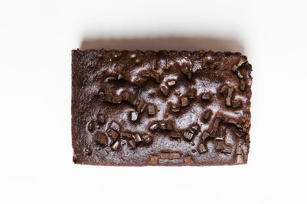 Вид сверху запеченный шоколадный торт Бесплатные Фотографии