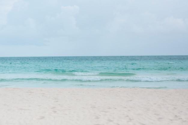 熱帯の砂浜のロングショット 無料写真