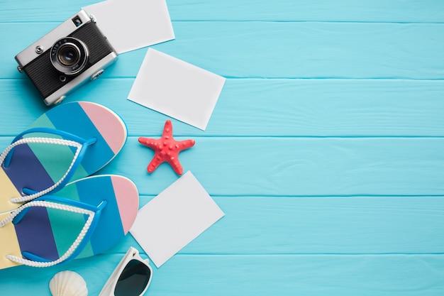 Плоские лежал открытки с концепцией отдыха Бесплатные Фотографии