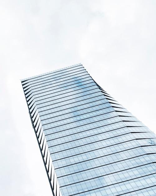 低角度の高層ビルの設計 無料写真
