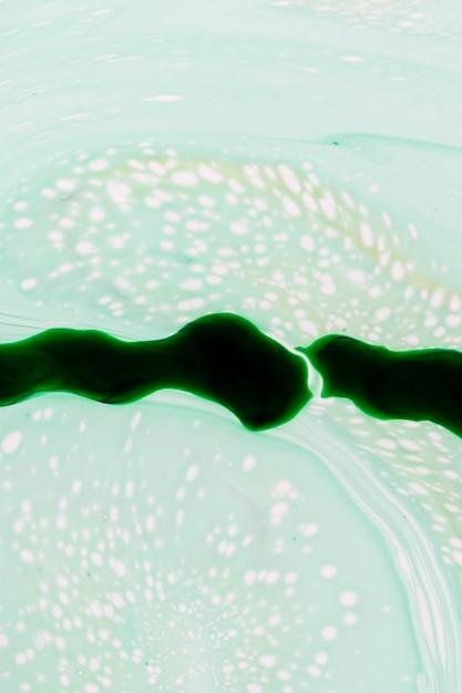 Абстрактный зеленый свет слизи в масле Бесплатные Фотографии