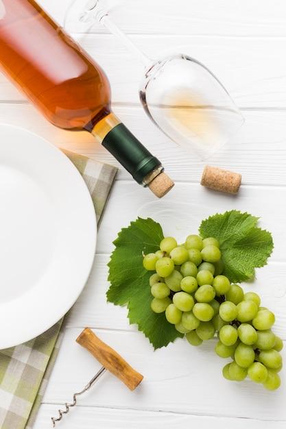 ぶどうとブランデーワイン 無料写真