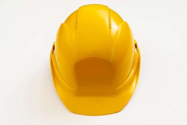 クローズアップハイアングルビュー建設ヘルメット 無料写真
