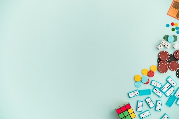 Вид сверху аксессуары для домашних игр Бесплатные Фотографии