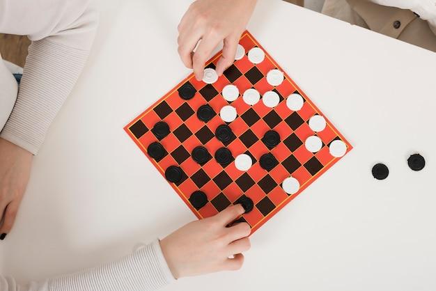 Вид сверху игры в шашки Бесплатные Фотографии
