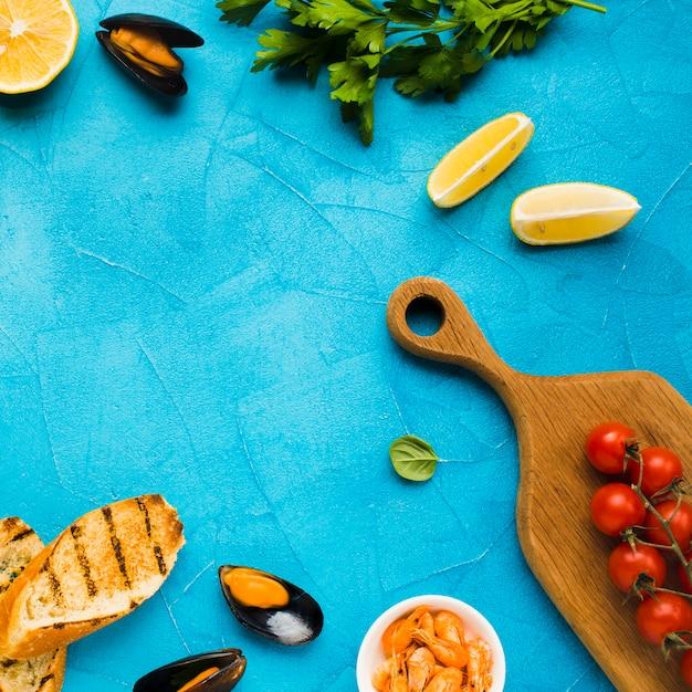 ムール貝の平らな地中海ダイエット 無料写真