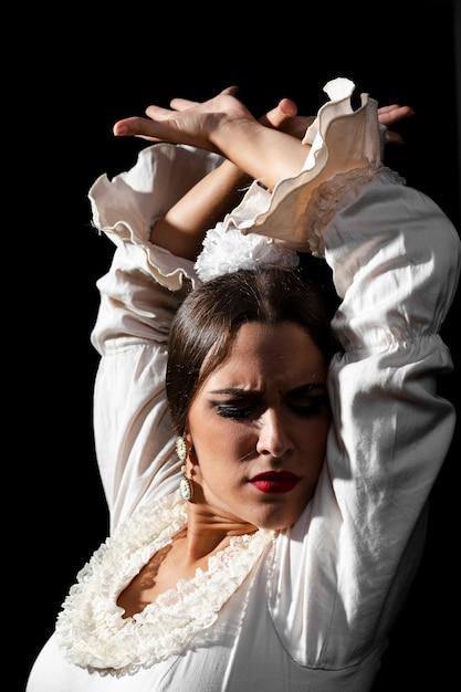 Крупный план танцовщицы фламенко Бесплатные Фотографии