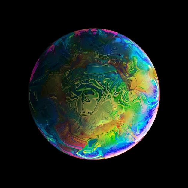 緑の青とピンクの球と抽象的な背景 無料写真