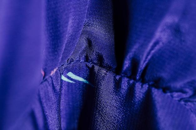 絹製ブルーブラウスの詳細 無料写真