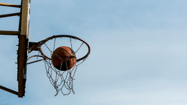 横向きロービューバスケットボールネット 無料写真
