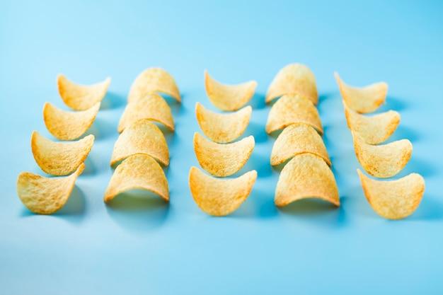 塩とチップの行と列 無料写真