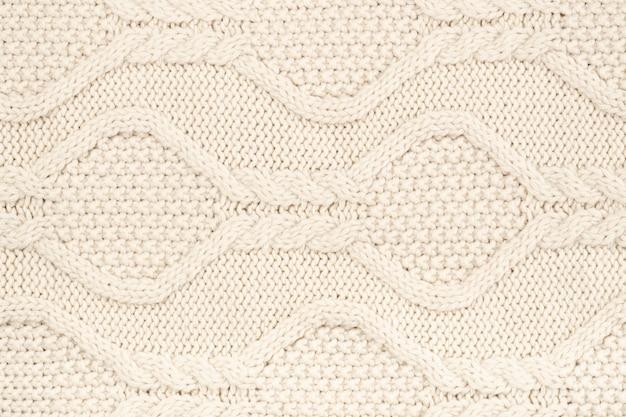 パターン付きクリームウールかぎ針編み 無料写真