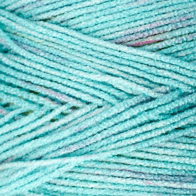 ターコイズ色のウールのクローズアップ 無料写真