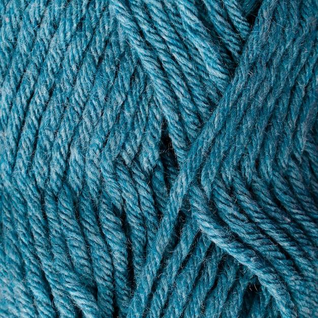 青い色のウール糸のクローズアップ 無料写真