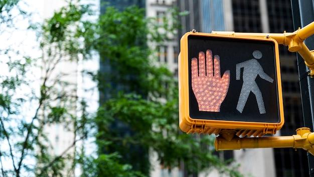 市内の赤信号 無料写真