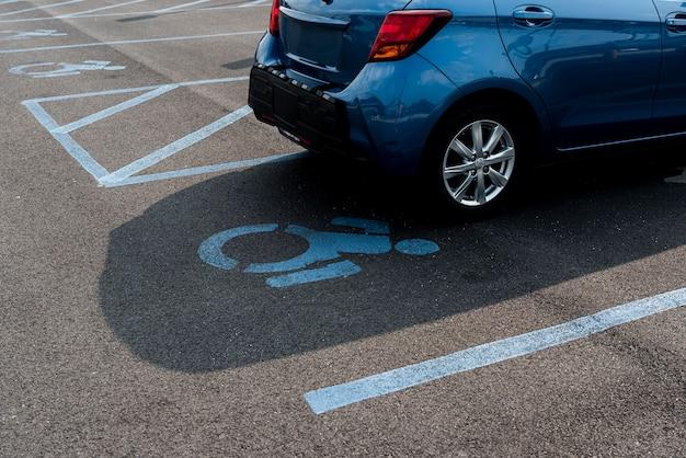 障害者用駐車場 無料写真