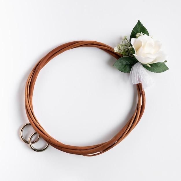 ミニマリストの結婚式の枝編み細工品デザイン 無料写真