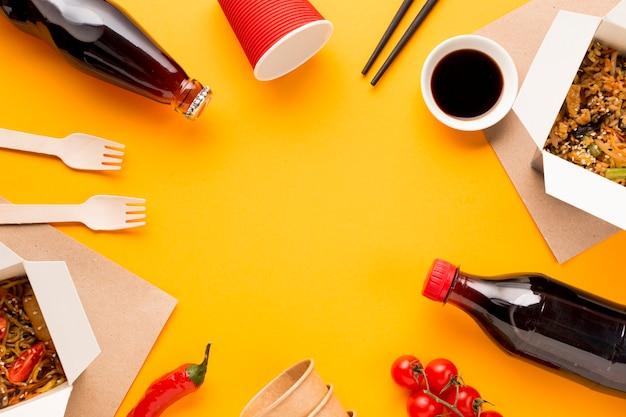 中華料理フードフレーム 無料写真