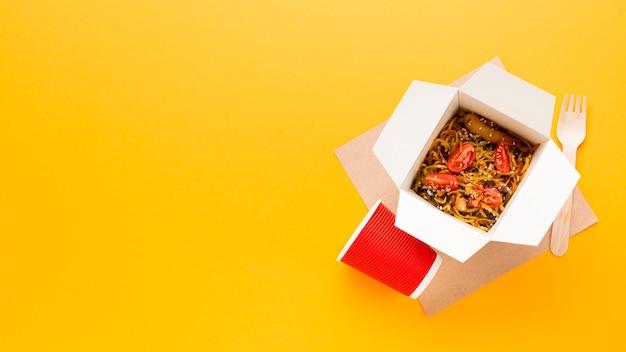 中華料理ボックスのコピースペース 無料写真
