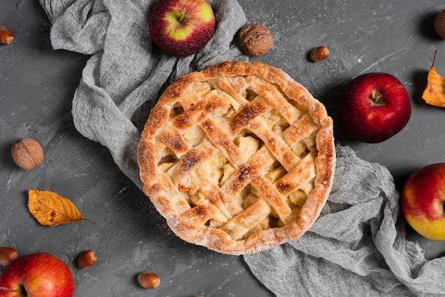 パイとりんごの平干し 無料写真