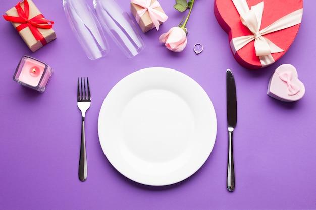トップビューアレンジロマンチックディナー 無料写真