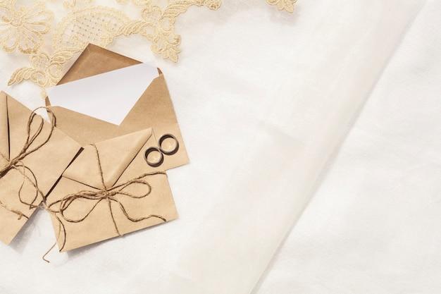 コピースペース平面図ミニマリストの結婚式の装飾 無料写真