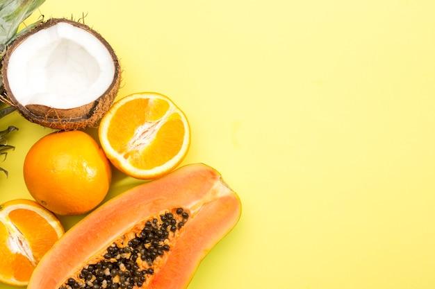 エキゾチックなフルーツのおいしい品揃え 無料写真