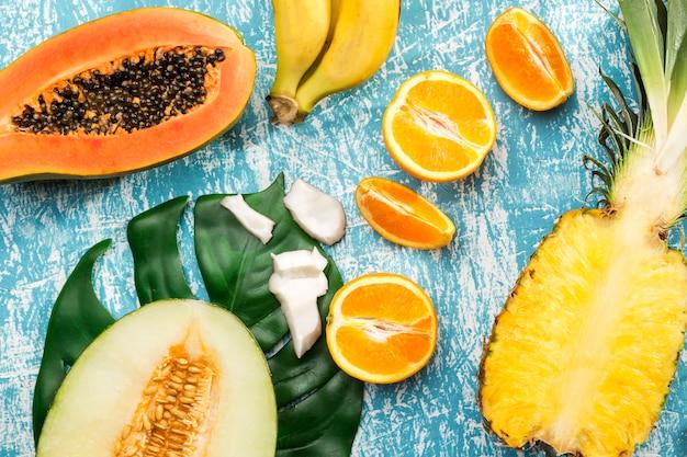 Вкусный свежий экзотический фруктовый дизайн Бесплатные Фотографии