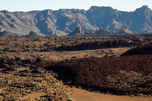 赤い地面と火山の救済 無料写真
